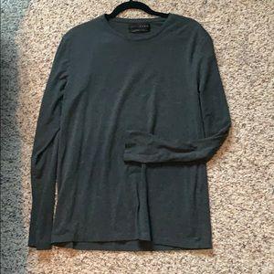 Charcoal Long Sleeve Tee - Zara